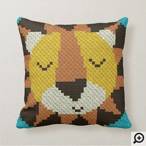 C2C Lion / C2C Pillow Pattern / Pillow Crochet Pattern