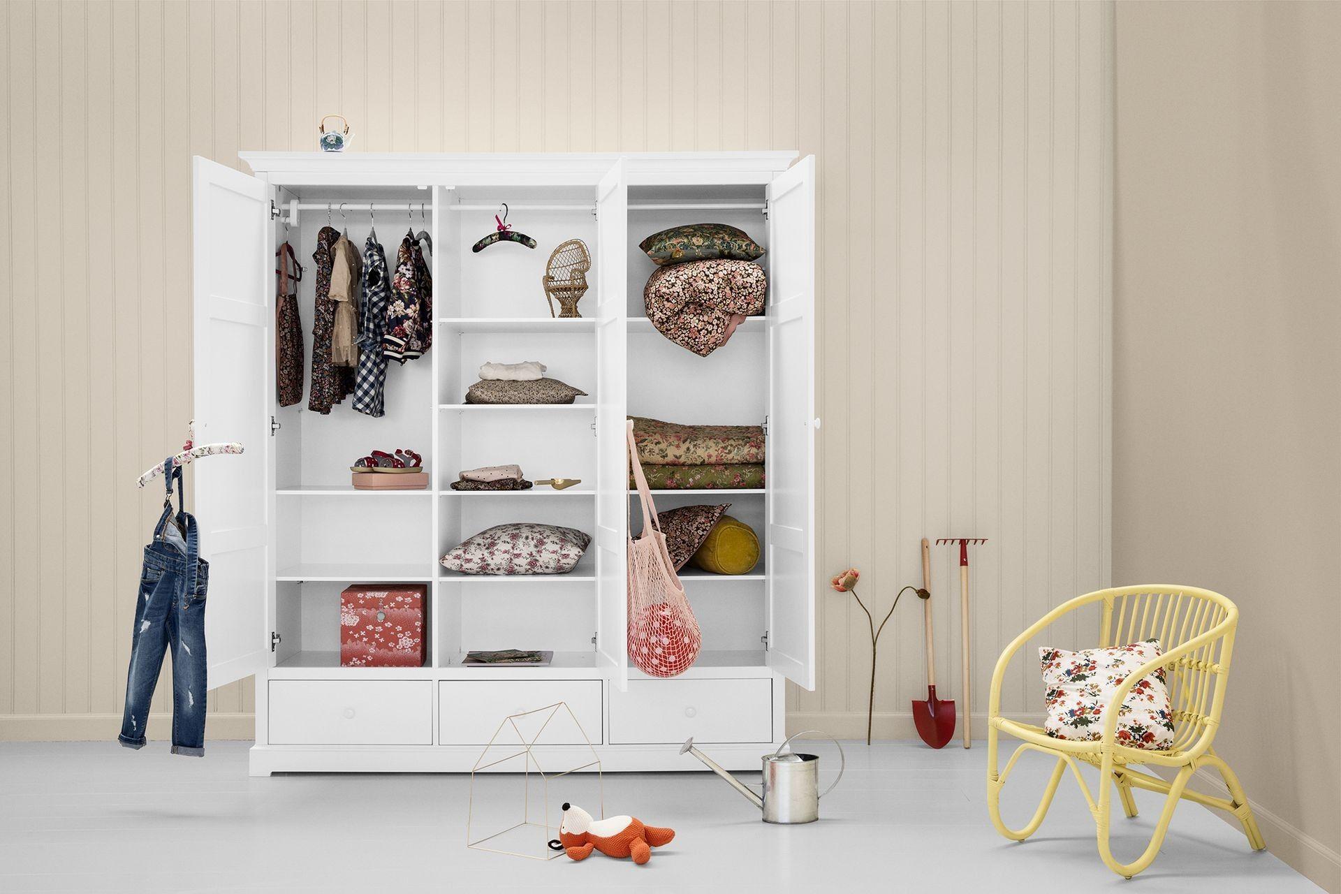 Oliver Furniture Kleiderschrank Seaside 3 Türig Weiß Ankleide Zimmer Ikea Schrank Schrank