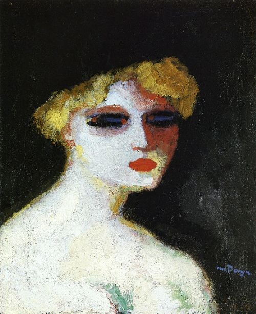 Blond Woman with Small Head