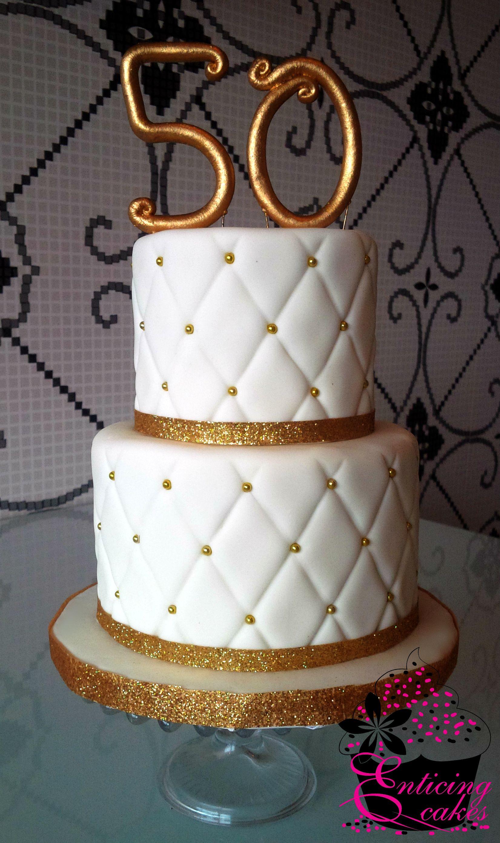 50th wedding decorations ideas  Quilted u Gold th Wedding Anniversary Cake  Cake Art Ideas