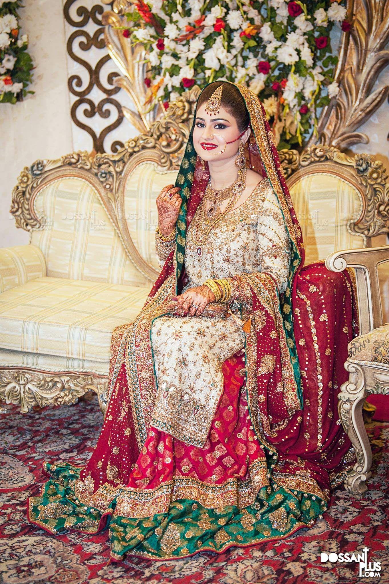 Beautiful bride and Dossani plus photography | Bridal wear | Pinterest