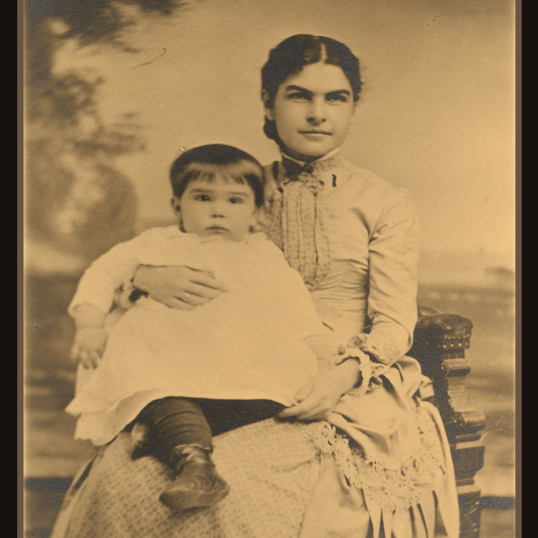 A photo of Clara Congdon holding their first born child, Walter Congdon in 1883.   Glensheen ...