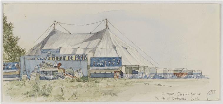 """Album """"Le cirque en image"""" : Chapiteaux Vesque Marthe (1879-1962) et Juliette (1881-1949)"""
