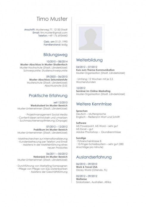 lebenslauf muster vorlage 33 architekt - Schlerpraktikum Lebenslauf Vorlage