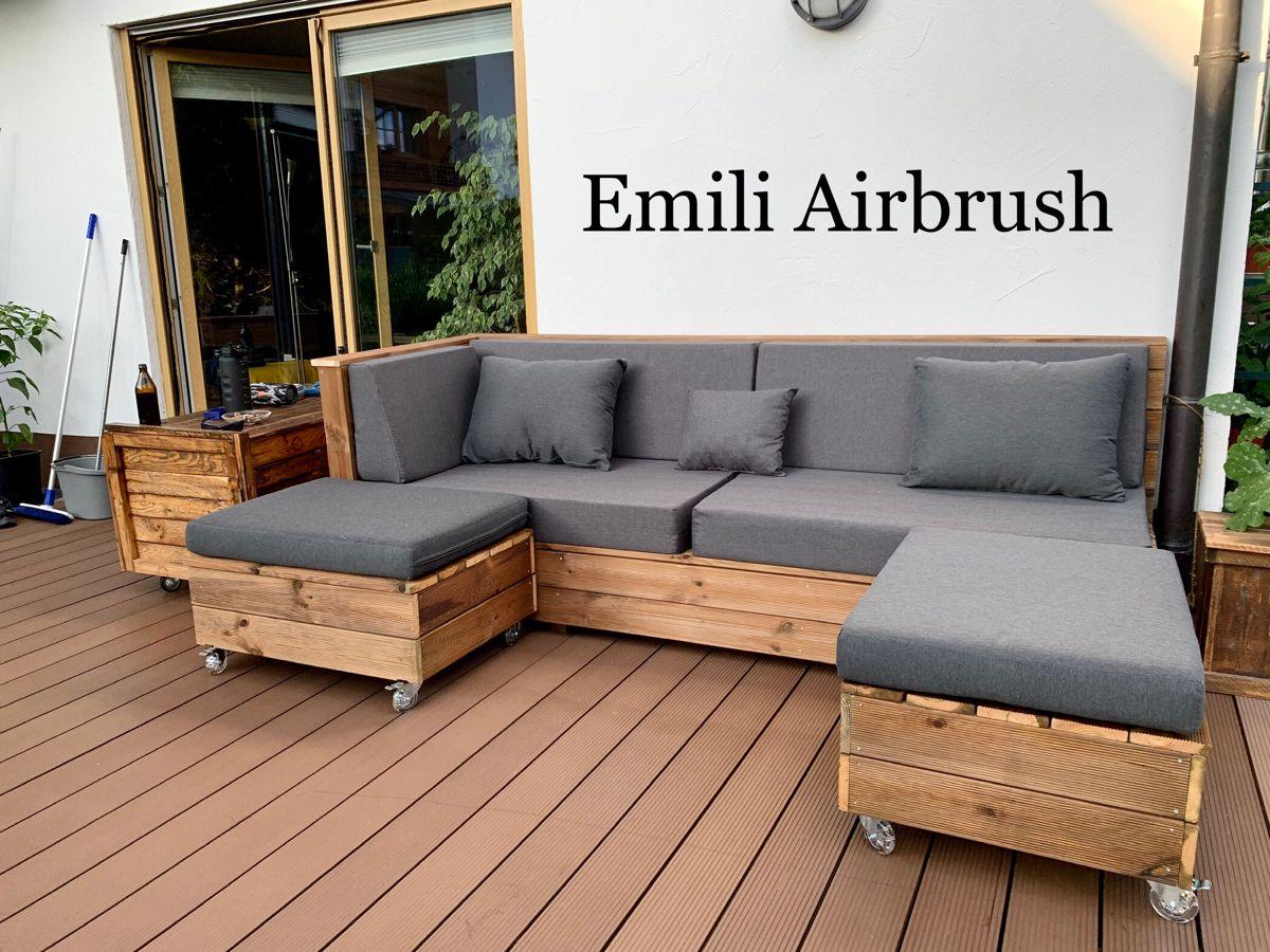Garten Möbel selber gebaut 🙂   Lounge möbel terasse, Lounge möbel ...