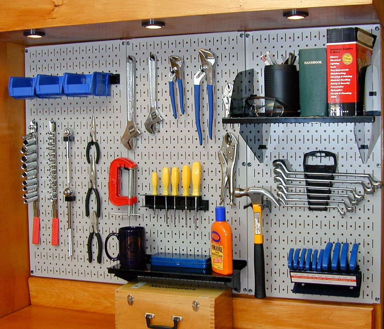 pegboard ideas for garages - peg board ideas