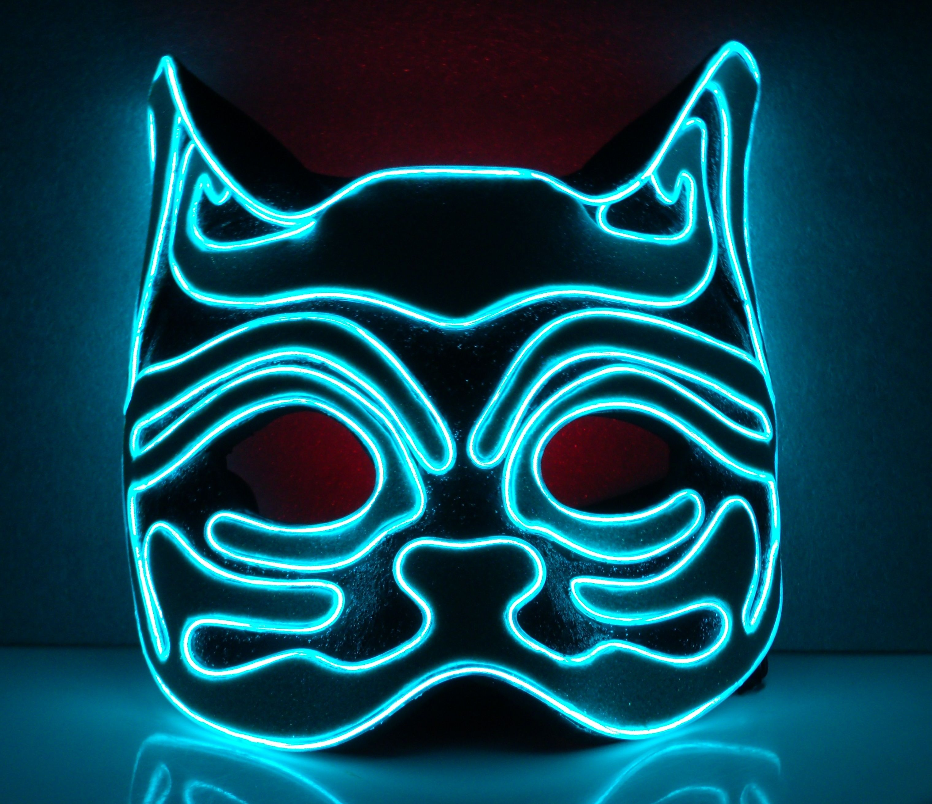 template Neon, El wire mask, Cat mask