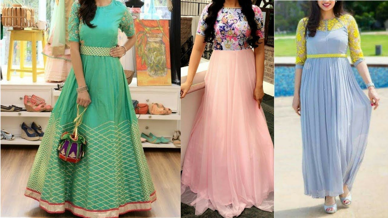 Beautiful Indian Gown designs | Indo western simple gown Ideas for ...