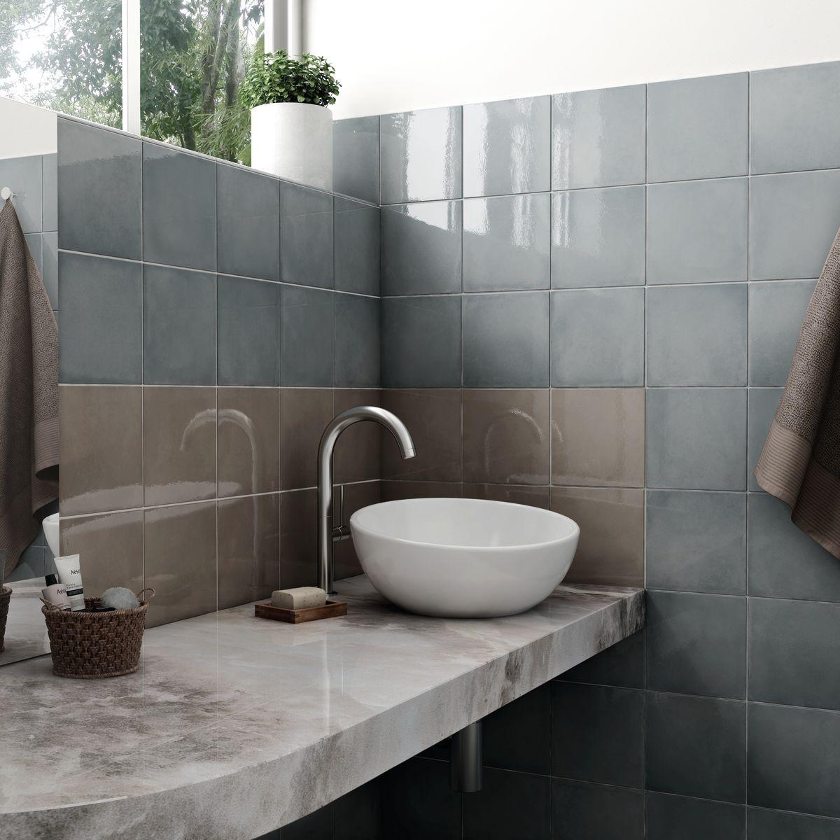 Cadiz Papyrus Decor Wall Tile Clearance Tileflair Blue Wall Tile Bathroom Wall Tiles Bathroom Tile Designs