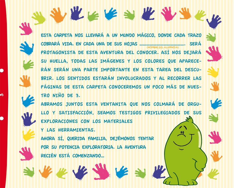 Mi carpeta de sala de 3 editorial hola chicos frases for Cancion infantil hola jardin