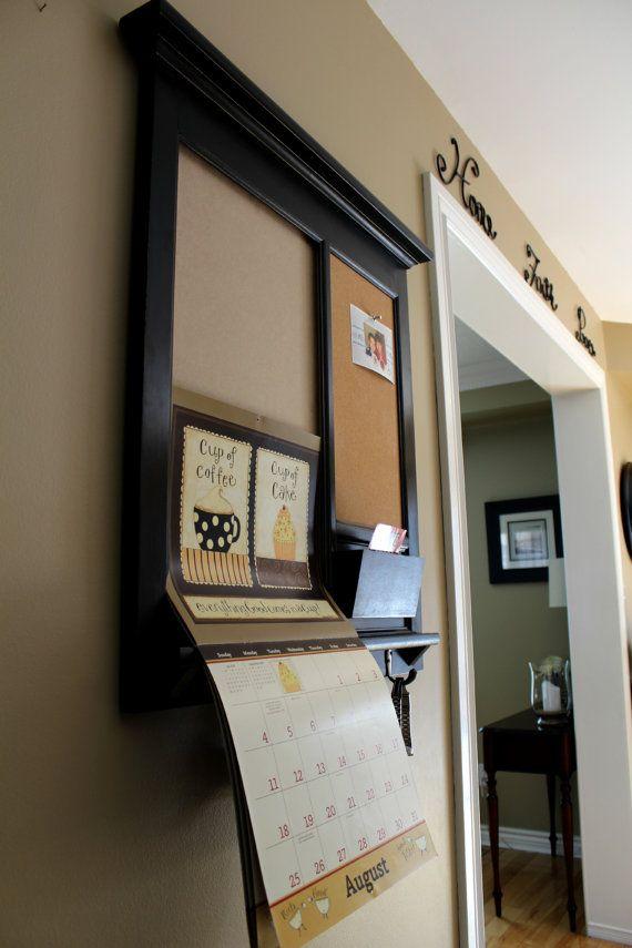 Wall Lang Calendar Frame Front Loading Home Decor Framed