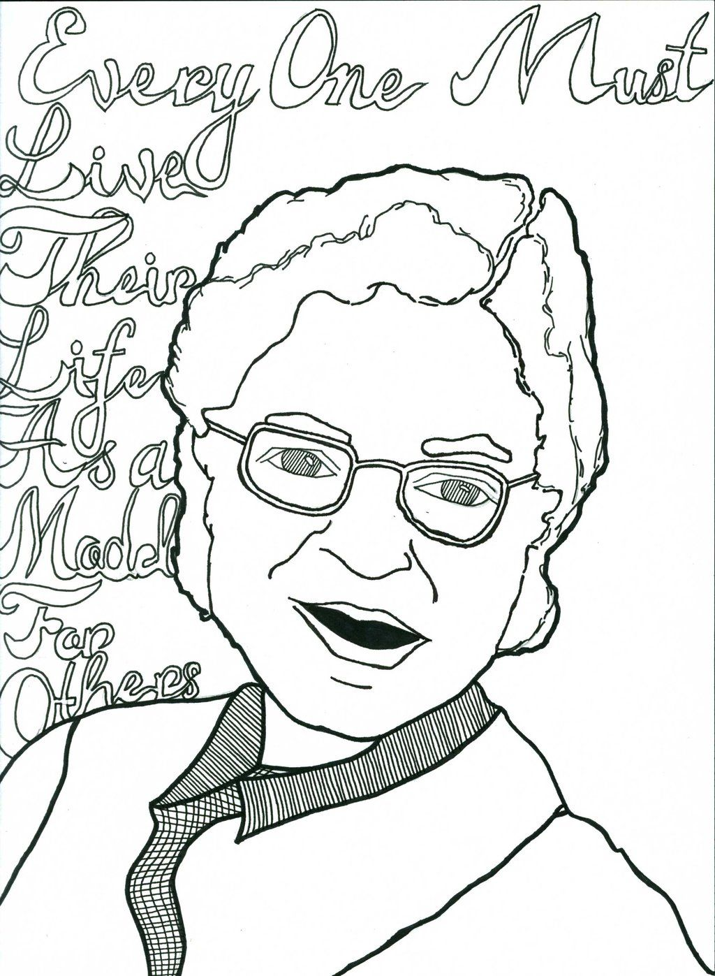 rosa parks coloring pages color - Coloring Page Rosa Parks