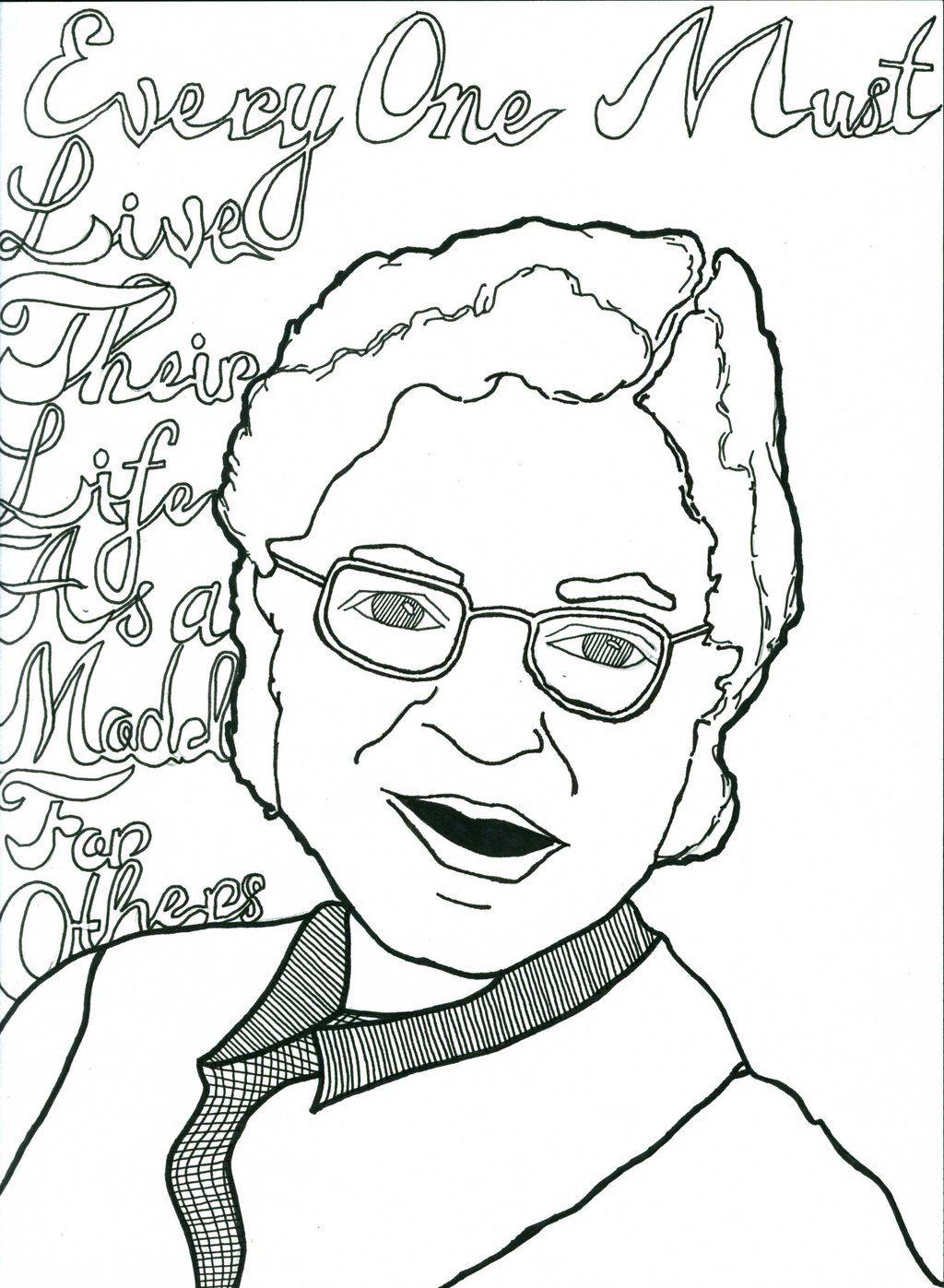 Rosa Parks Coloring Pages Color