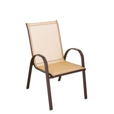 Tan Sling Patio Chair-FCS00015J - The Home Depot - Tan Sling Patio Chair-FCS00015J - The Home Depot Outdoor Stuff