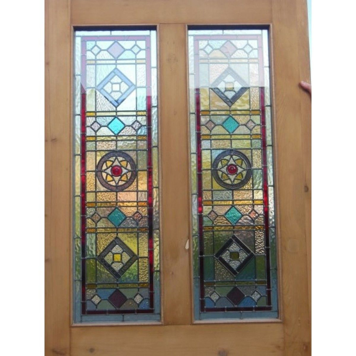 Doors And Windows Victorian Edwardian Original 4 Panelled Door Cheshire Stained Glass Door Making Stained Glass Painted Doors