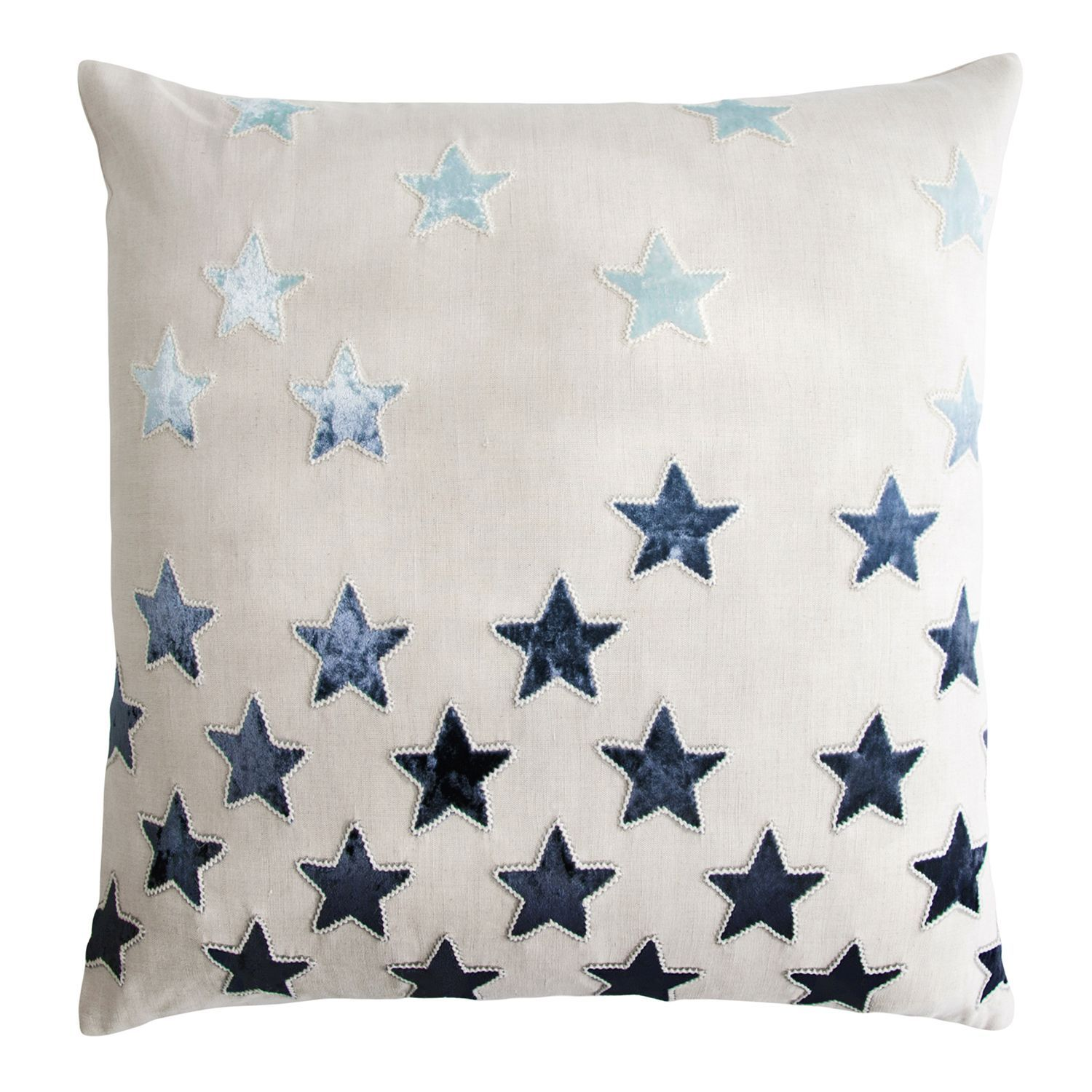 Kevin O Brien Studio Stars Embroidered Velvet Twilight Applique