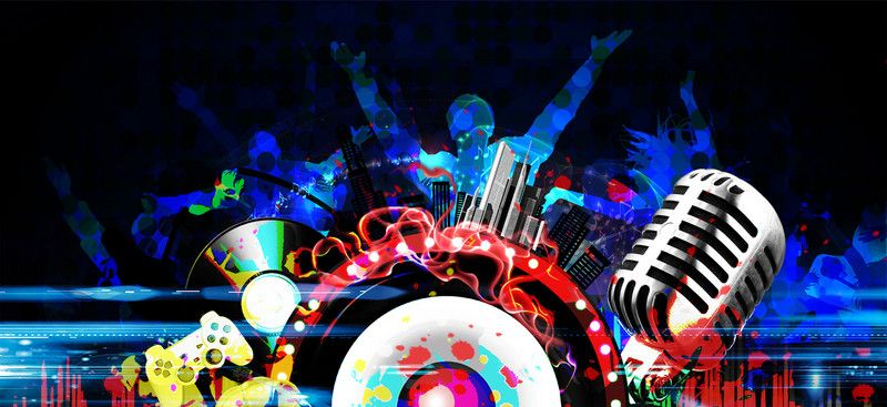 Cool Music Carnival Music Festival Poster Background Man Style