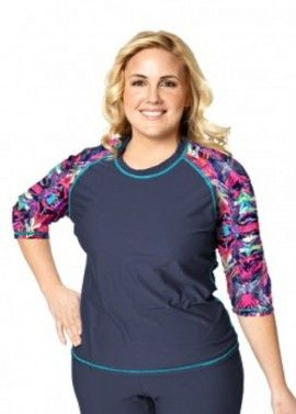 c9b613ef654 plus size swim shirt  plus size bathingsuit with sleeves