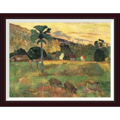 Global Gallery Haere Mai by Paul Gauguin Framed Painting Print Size:
