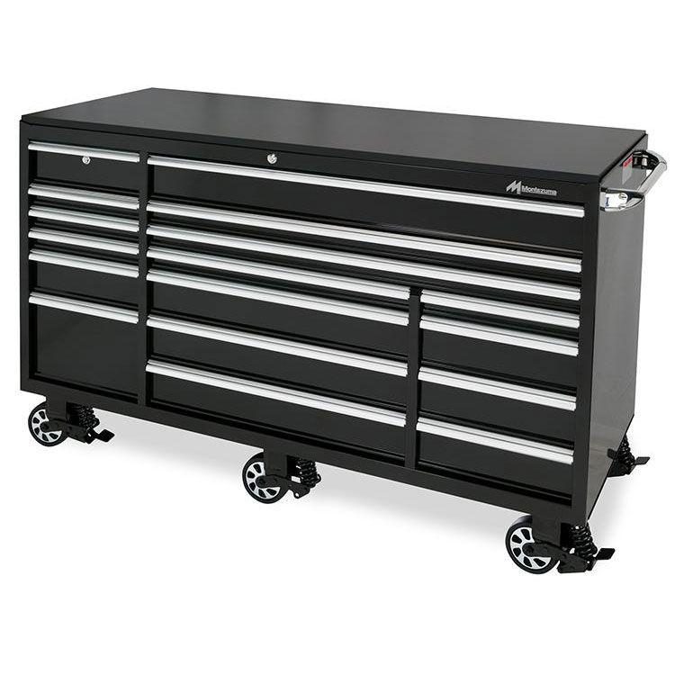 Montezuma 72 Elite 17 Drawer Roller Cabinet Montezuma In