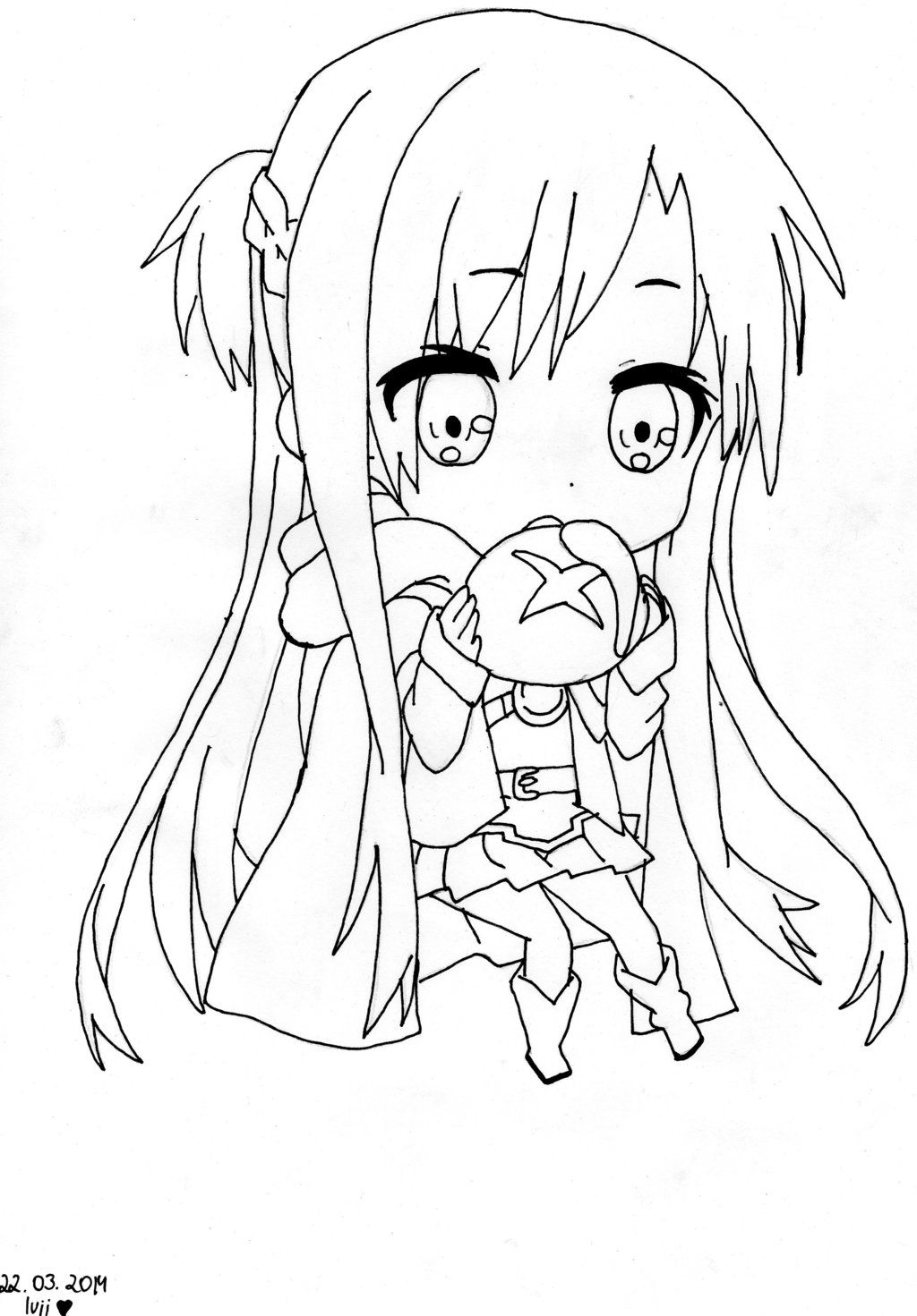 Asuna Coloring Pages - Line Art Transparent PNG - 900x786 - Free ... | 1471x1024