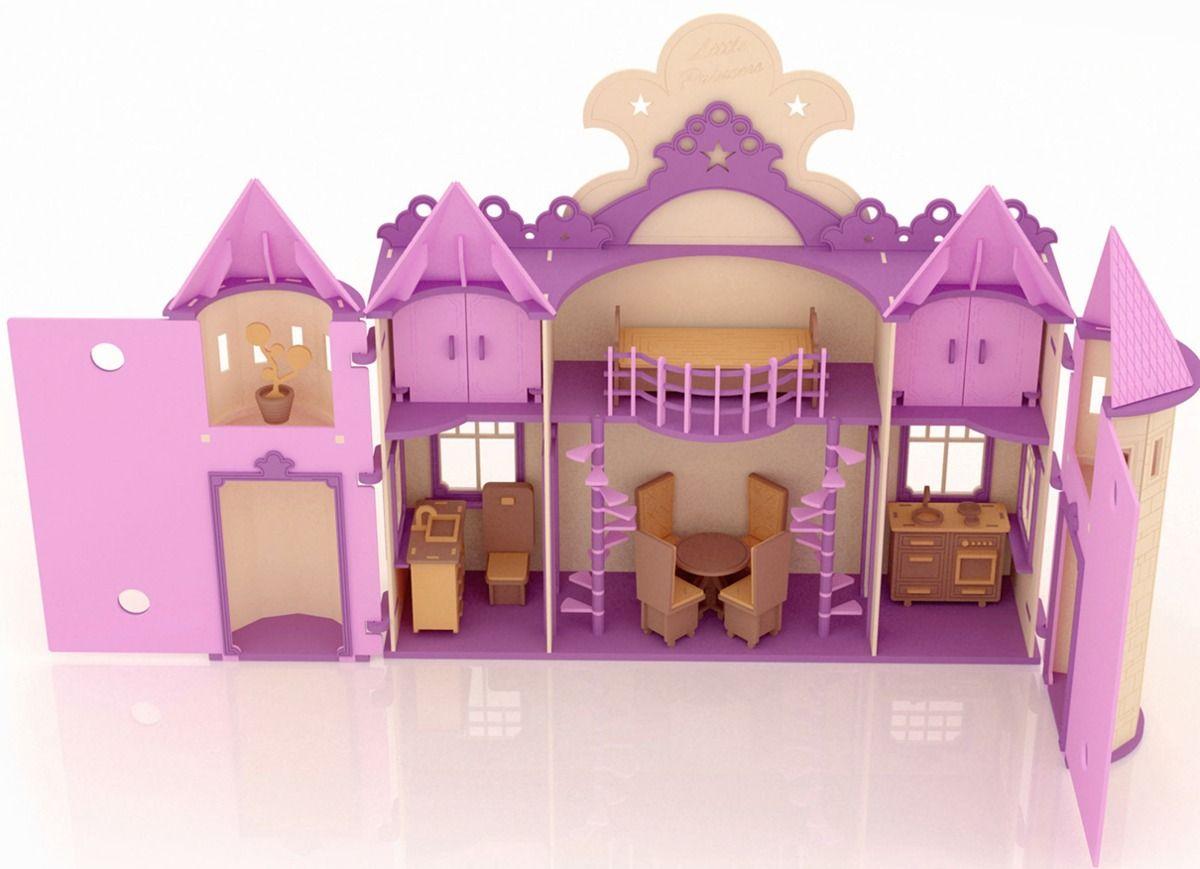 casa-de-munecas-palacio-de-princesa-barbie-en-madera | Kids ...