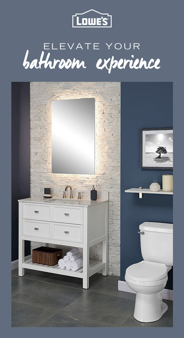 Transform Your Bathroom Into A Relaxing Oasis With Must Have Fashionable Fixtures From Lowe S Small Bathroom Makeover Bathroom Color Schemes Bathroom Makeover