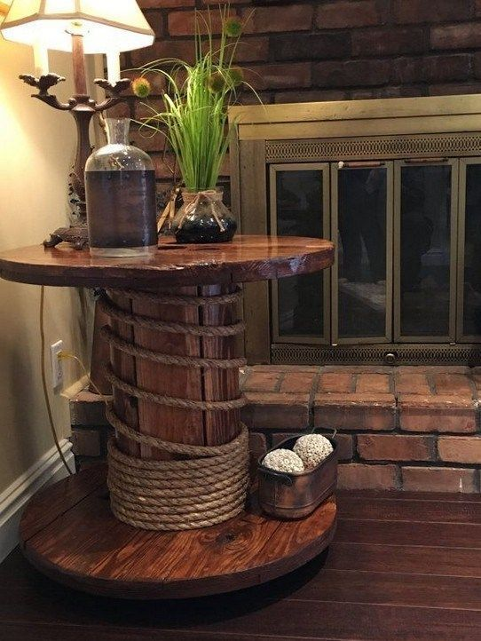 ✔60 diy recycled wood cable spool furniture ideas & projects for porch decorat... -  #cable #... #cablespooltables