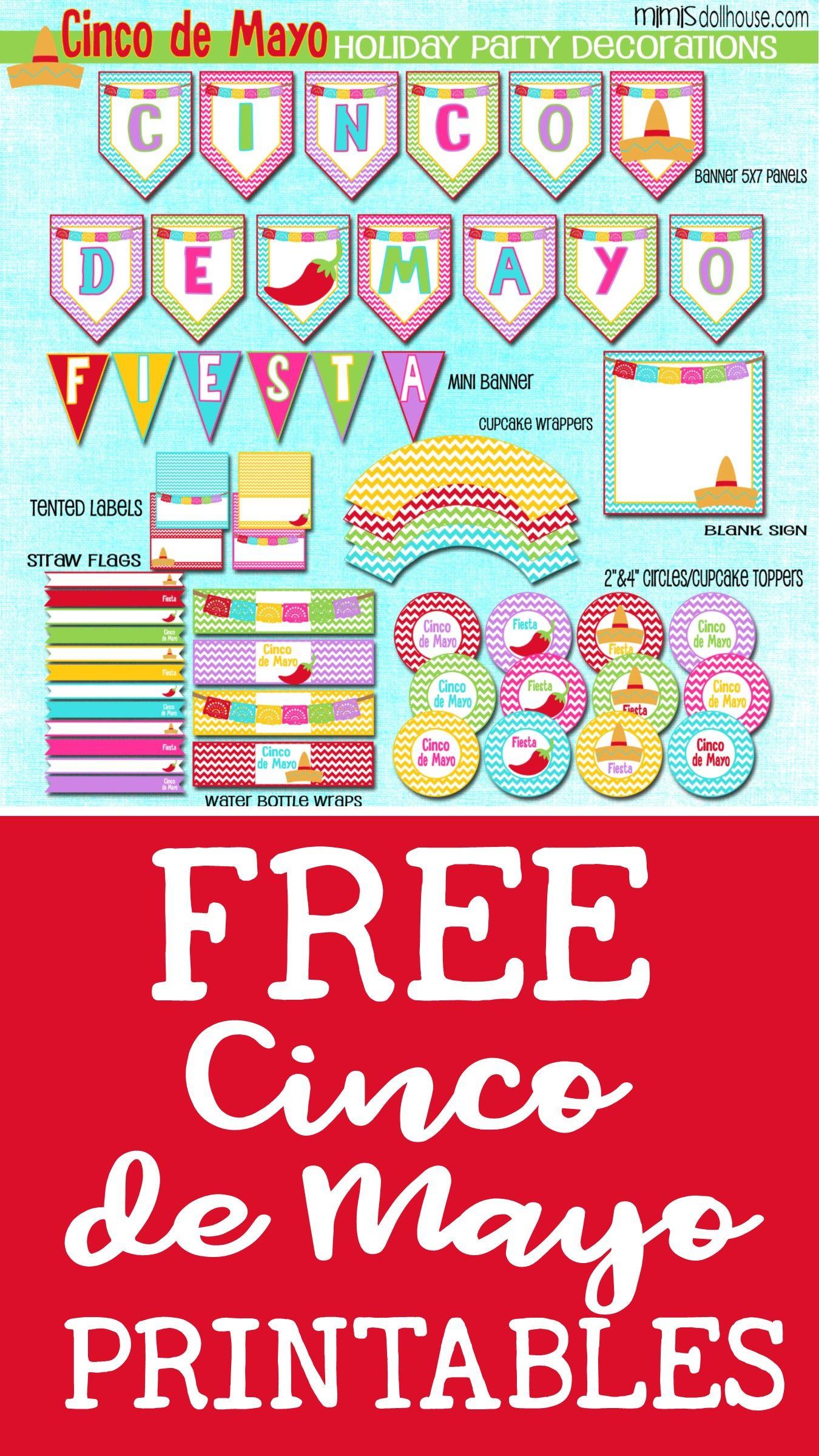 Free Cinco De Mayo Printables