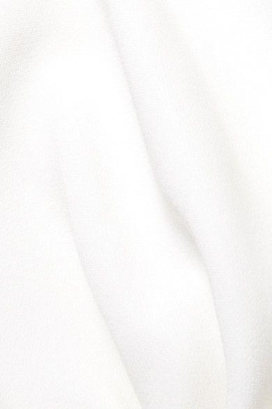 White One-shoulder stretch-cady gown | Stella McCartney