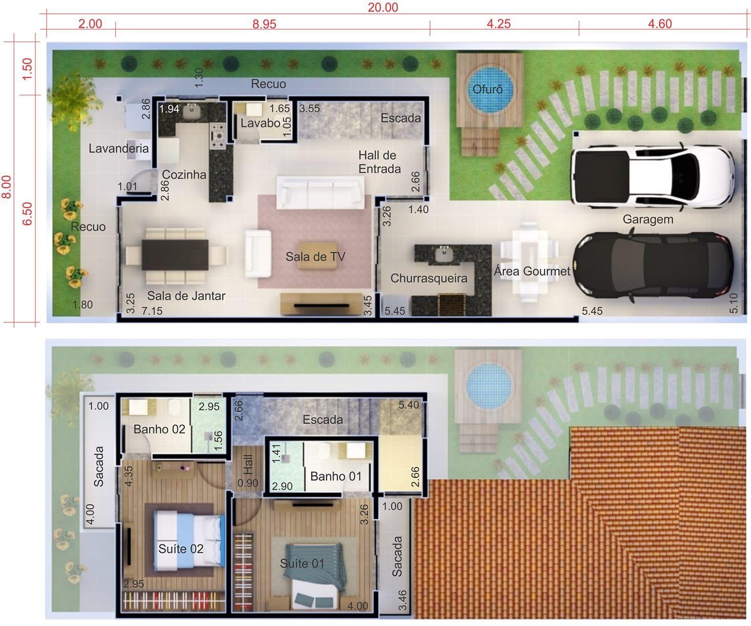 Plano De Casa Barato Plano Para Terreno 8x20 Planos De Casas Casas Casas De Una Planta