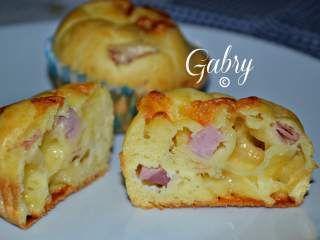 Muffins salati con prosciutto cotto e provola affumicata, Foto 4