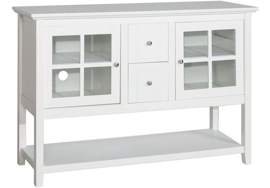 Columby White 52 In Console Home Entertainment Colors