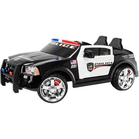 Kid Trax Dodge Pursuit Police Car Volt Battery Powered Ride On