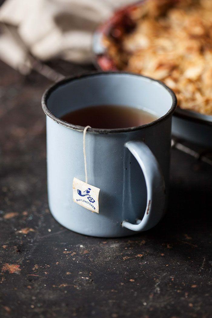 a mug of rooibos tea.