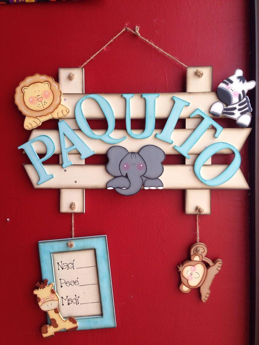 Colgante para puerta de maternidad nino