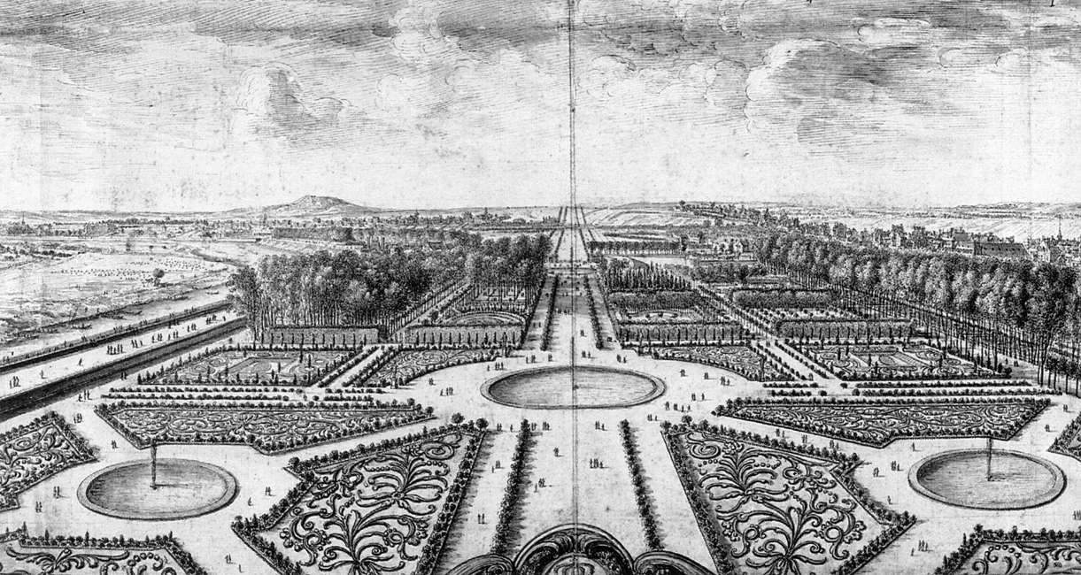 View Of The Tuileries Gardens Israel Silvestre Pen And Wash