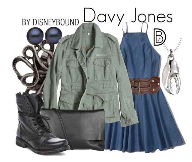 """""""Davy Jones"""" by leslieakay ❤ liked on Polyvore featuring Abercrombie & Fitch, G1, Arlington Milne, Steve Madden, disney, disneybound and disneycharacter"""