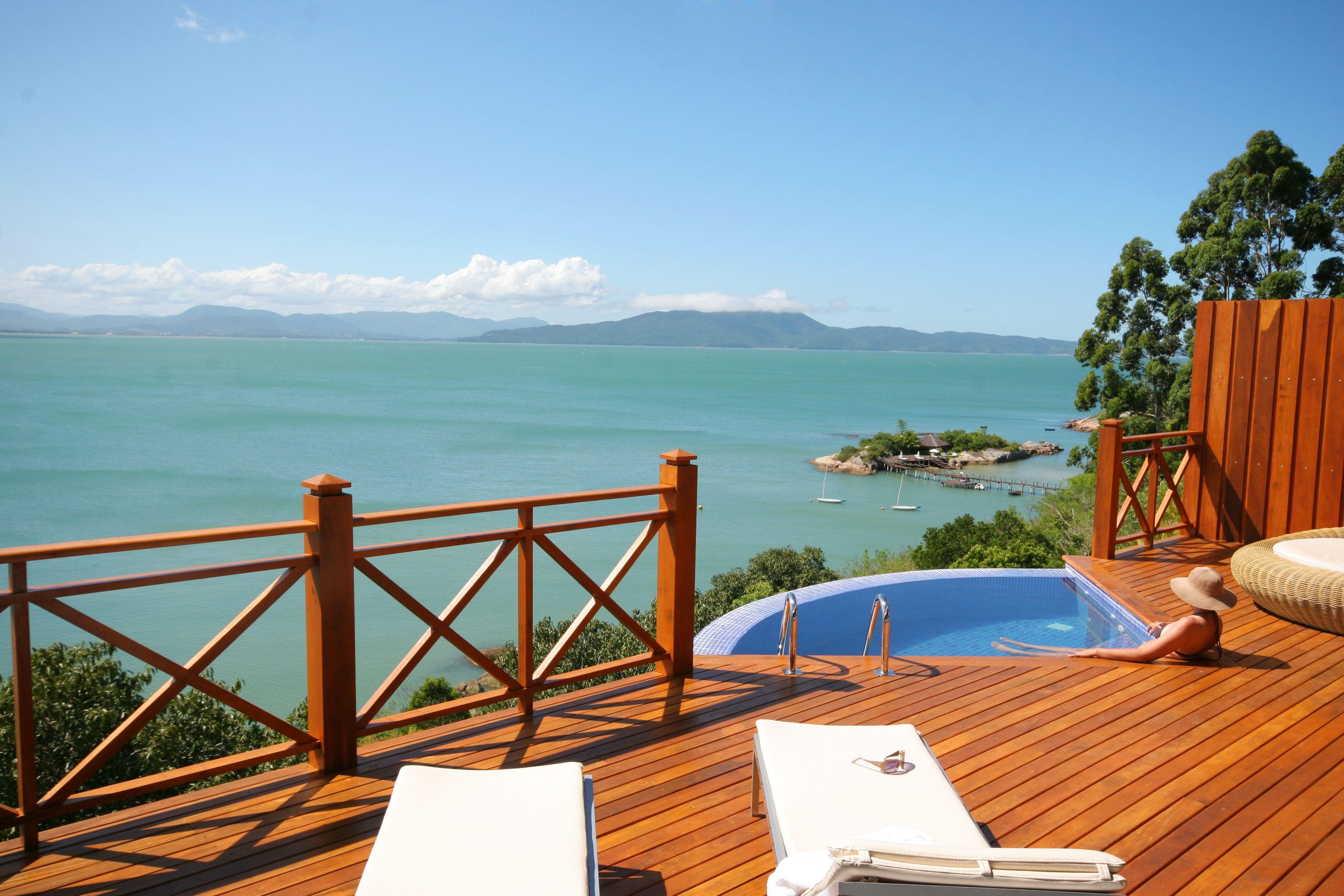 Views from the villas at Ponta dos Ganchos