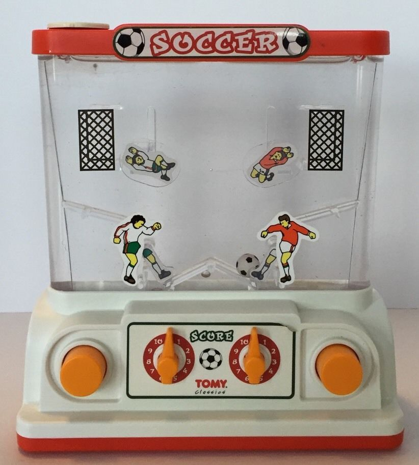Tomy Classic Wonderful Waterful Soccer Game Handheld Water Toy Vintage Tomy Old Toys Game Room Toys