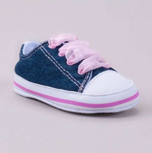 Denim Sneaker with Laces - itty bitty babies :D
