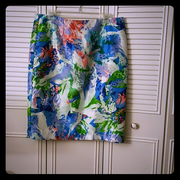 Sunny Leigh Skirt! Multi Colored above the knee pencil skirt! Sunny Leigh Skirts Pencil