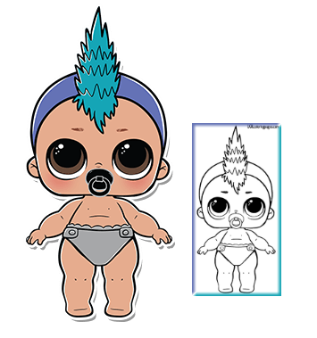 Image Result For Punk Baby Coloring Pages Lol Dolls Coloring Pages For Boys Baby Coloring Pages