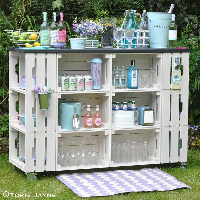Good idea. Can be modified | TARAS | Pinterest | Diy outdoor bar ...