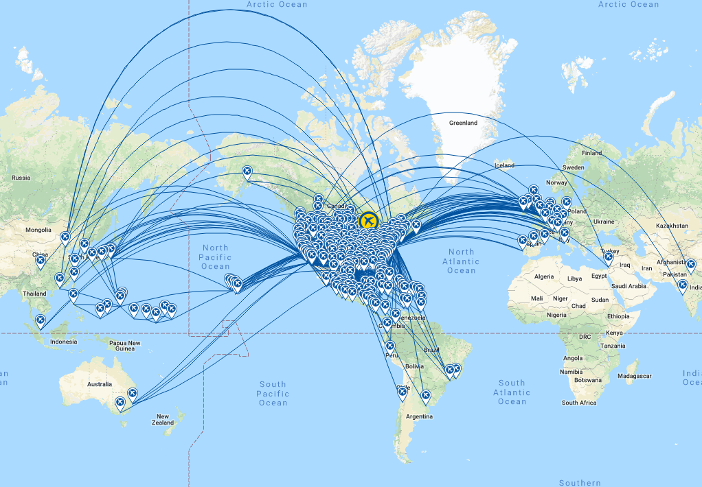 united airlines world map United Airlines Route Map Google Search Route Map United Airlines Map