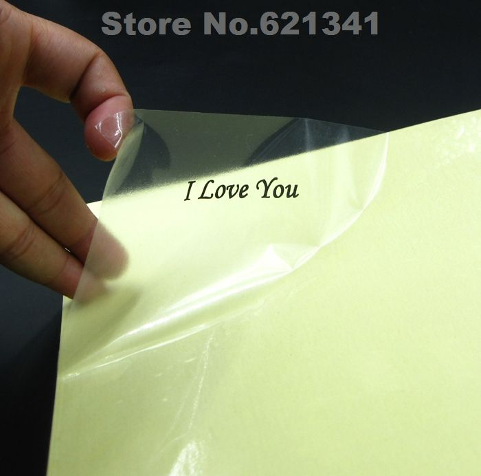 A4 Pet Clear Transparent Film Sticker Paper Sheet Self Adhesive Glossy Fit Laser Printer 20sheets Lot In Packaging Label Sticker Printer Sticker Paper Adhesive