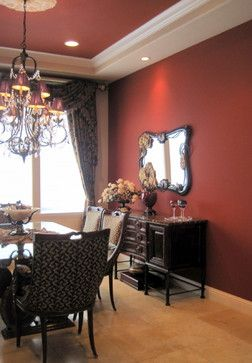 Tucson Red Design Ideas Pictures Remodel And Decor Red Dining Room Dining Room Decor Dining Room Paint
