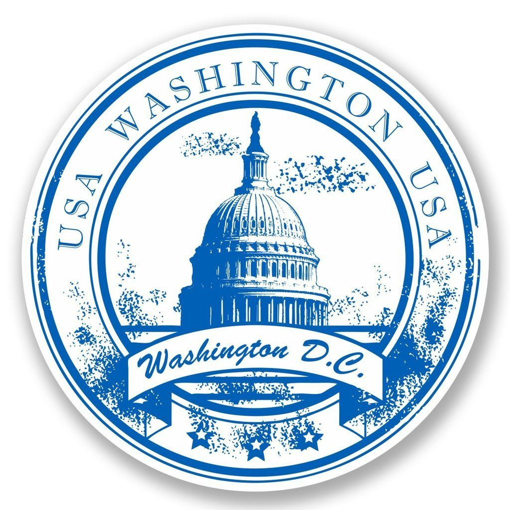 2 X Washington D C Vinyl Sticker 5752 Vinyl Stickers Laptop Sticker Supplies Travel Stamp [ 1024 x 1024 Pixel ]