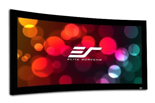 Elite Screens Curve106WH1 Curve Series Curve-Fixed Frame Projection Screen by Elite. $946.88. A curved screen reaches into the viewer's peripheral vision creating the illusion that they are being drawn into the picture. This perceived reality is further reinforced by a curved screen's ability to cover the center AND the right & left channel speakers. This is important because it  joins the image with the sound from the three forward points  of sound  ori...
