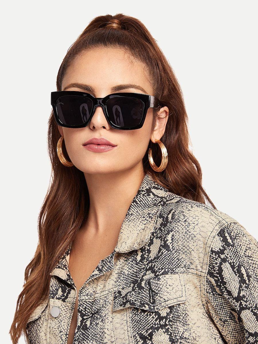 baf0cee8d2 Acetate Frame Flat Lens Sunglasses | A C C E S S O R I E S ...